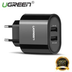 Harga Ugreen 5 V 3 4 Amp Universal Usb Charger Ponsel Ganda Dinding Perjalanan Adaptor Charger Hitam Steker Uni Eropa Online Tiongkok