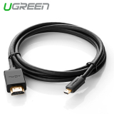 Toko Ugreen Micro Hdmi Ke Hdmi Kabel With Ethernet Berlapis Emas Mendukung 3D And 4 Kb Resolusi 1 M Murah Tiongkok