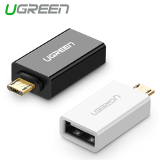 UGREEN Mikro USB 2.0 OTG Compatible With Adaptor Samsung LG Sony HTC Android smartphone (Hitam)