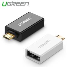 UGREEN mikro USB 2.0 OTG kompatibel dengan adaptor Samsung LG Sony HTC Android smartphone (putih)