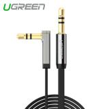 Jual Ugreen Kabel Stereo Audio 90 Derajat Sudut Siku 3 M Hitam Internasional Original