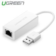 UGREEN USB 2.0 untuk 10/100 Ethernet LAN Cepat Jaringan Kabel Adaptor For Macbook, Chromebook, Windows, Mac OS