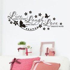Ujs Bunga Tahan Air Live Kehidupan Percintaan Diy Mural Seni Stiker Dinding Ruangan Dekorasi Rumah
