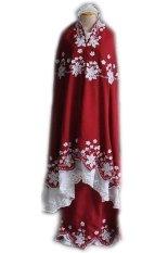 Ukhuwah Mukena Behel Double Hycon - Merah Marun
