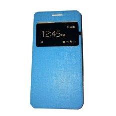 Ume Huawei Y5 / Y5C / Y5 Batik View / Flip Cover  Huawei Y5 Batik / Flipshell / Leather Case / Sarung HP / Sarung Huawei Y5 - Biru Muda