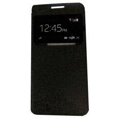 Ume Huawei Y5 / Y5C / Y5 Batik View / Flip Cover Huawei Y5 Batik / Flipshell / Leather Case / Sarung HP / Sarung Huawei Y5 - Hitam