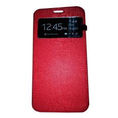 Ume Huawei Y5 / Y5C / Y5 Batik View / Flip Cover Huawei Y5 Batik / Flipshell / Leather Case / Sarung HP / Sarung Huawei Y5 - Merah