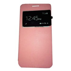Ume Acer Liquid Jade S55 / Acer S55 View / Flip Cover / Flipshell / Leather Case / Sarung HP / Sarung Acer S55 - Pink