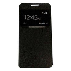 Ume Smartfren Andromax E2 View / Flip Cover / Flipshell / Leather Case / Sarung Handphone / Sarung HP / Sarung Andromax E2 - Hitam