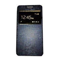 Ume Smartfren Andromax E2 View / Flip Cover / Flipshell / Leather Case / Sarung Handphone / Sarung HP / Sarung Andromax E2 - Navy