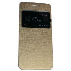 Ume Asus Zenfone 4S Ukuran 4.5 Inch View / Flip Cover / Flipshell / Leather Case / Sarung Handphone / Sarung HP / Sarung Asus Zenfone 4S - Gold