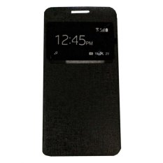Ume Huawei Ascend Y511 View / Flip Cover Huawei Y511 / Flipshell / Leather Case / Sarung HP / Sarung Huawei Ascend Y511 - Black