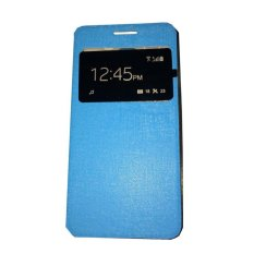 Ume Huawei Ascend Y511 View / Flip Cover Huawei Y511 / Flipshell / Leather Case / Sarung HP / Sarung Huawei Ascend Y511 - Blue
