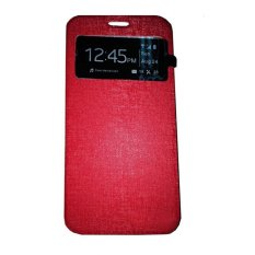 Ume Huawei Ascend Y511 View / Flip Cover Huawei Y511 / Flipshell / Leather Case / Sarung HP / Sarung Huawei Ascend Y511 - Merah
