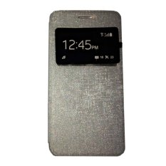 Ume Huawei Ascend Y511 View / Flip Cover Huawei Y511  / Flipshell / Leather Case / Sarung HP / Sarung Huawei Ascend Y511 - Silver