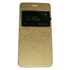 Ume Samsung Galaxy A3 (2016) A310 / Samsung A3 (2016) A310 View / Flipshell / Flip Cover  Samsung A310 / Leather Case / Sarung HP / Sarung Samsung A310 - Gold