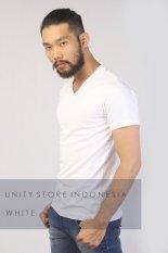 Toko Unity Indonesia Stretch Fit T Shirt V Neck Putih Terlengkap Di Jawa Timur