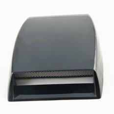 Universal Mobil Dekoratif Aliran Udara Masuk Scoop Turbo Bonnet Vent Cover Hood Menghias (hitam)