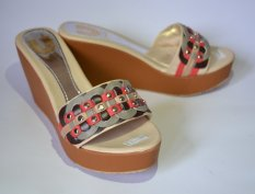 Harga Unix Shoes Wedges Sandal El003 Cream Unix Shoes Original