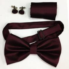 Beli Vm Dasi Kupu Kupu 1 Set 3 In 1 Pocket Square Manset Bowtie Purple Terbaru