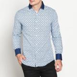 Toko Vm Kemeja Casual Slimfit Panjang Biru Long Sleeve Shirt Terlengkap Dki Jakarta