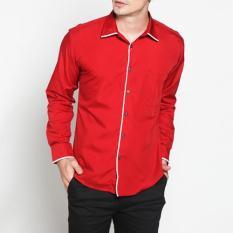 Beli Vm Kemeja Casual Slimfit Panjang Katun Merah Long Shirt Nf 170 Di Dki Jakarta
