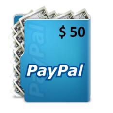 Voucher PayPal Balance $50