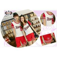 Vrichel Collection Setelan Couple Texas (Merah)