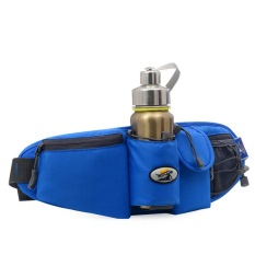 Diskon Waist Bag Outdoor Sports Water Resistant Waist Pack With Water Bottle Holder Running Belt Bag Pouch F*nny Pack For Hiking Running Cycling Camping Climbing Travel Blue Oem Tiongkok