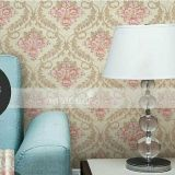 Wall Decor Wallpaper Sticker Motif Vintage Pink Flower On Cream V016 A Dki Jakarta