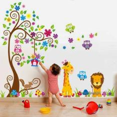 Wall sticker Anak Hewan Dan Pohon Size Besar (2 psc)