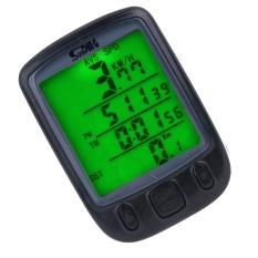 Review Waterproof Bicycle Bike Cycle Wired Lcd Digital Computer Speedometer Odometer Led Backlight 563B