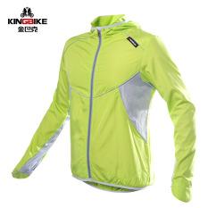 Spesifikasi Tahan Air Bersepeda Kaus Raincoat Lengan Panjang Unisex Sunscreen Windproof Mtb Sepeda Siklus Hujan Jaket Ropa Ciclismo Hijau Terbaru