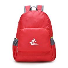 Spesifikasi Waterproof Folding Outdoor Mountaineering Ransel Merah Murah