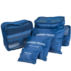 Harga Weekeight Korean 6 In 1 Organizer Pouch Tas Travel Bag In Bag Storage Set 6 In 1 Biru Tua Generic Original