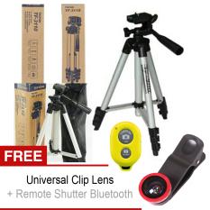Weifeng Tripod 3110A Silver + Universal Clip Eye + Bluetooth Camera Shutter