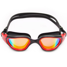 Whale Multi Warna Desain Fashion Elektroplating Kacamata Anti-kabut Anti Ultraviolet Swimming Glasses/kacamata Merah