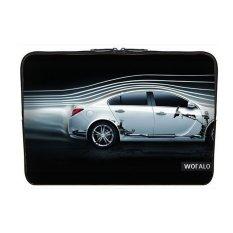 WOFALO 11.6 12 12.3 Inch Laptop Sleeve Case Casing Cover Neoprene untuk MacBook/Netbook/Laptop/Notebook Ultrabook Dinamis Garis Aliran dan Thewhite Mobil Kreatif-Intl
