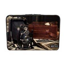 WOFALO 11.6-12 Inch Laptop Sleeve Case Casing Cover Neoprene untuk MacBook/Netbook/Laptop/Notebook Ultrabook Voigtlander Cameraantique Lama Nostalgia Hitam dan Putih-Intl