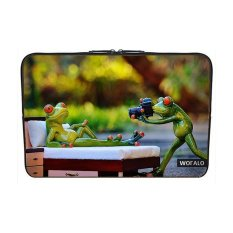 WOFALO 12.6 12.8 13 13.3 Inch Laptop Sleeve Case Casing Cover Neoprenefor MacBook/Netbook/Laptop/Notebook/ Ultrabook Fotografer Takingpictures Katak Lucu Lucu Binatang Foto Kamera-Intl