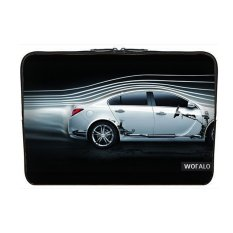 WOFALO 9.7-10.6 Inch Laptop Sleeve Case Casing Cover Neoprene untuk MacBook/Netbook/Laptop/Notebook/Ultrabook Dynamic Flow Line dan Putih Mobil Kreatif-Intl