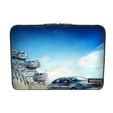WOFALO 9.7-10.6 Inch Laptop Sleeve Case Casing Cover Neoprene untuk MacBook/Netbook/Laptop/Notebook/Ultrabook Ferris Wheel dan Mobil-Intl