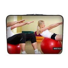 WOFALO 9.7-10.6 Inch Laptop Sleeve Case Casing Cover Neoprene untuk MacBook/Netbook/Laptop/Notebook/Ultrabook Dalam Melakukan Kebugaran Ballsport untuk Pria dan Wanita-Intl