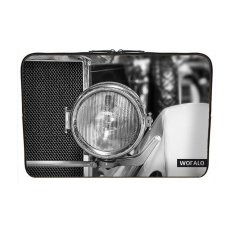 WOFALO 9.7-10.6 Inch Laptop Sleeve Case Casing Cover Neoprene untuk MacBook/Netbook/Laptop/Notebook/Ultrabook Spotlight Mobil Oldtimerblack dan Putih Kendaraan Tua Pkw-Intl
