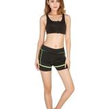 Jual Wanita Dua Piece Celana Pendek Lari Suit Sport Menjalankan Pakaian Suit Ladies Gym No Rims Bra Tipis Wanita Bra Dengan Ritsleting Dengan Celana Set Satu Set