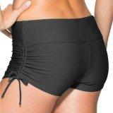 Cara Beli Wanita Beach Swimwear Shorts Cepat Kering Shorts Olahraga Yoga Gym Shorts Black