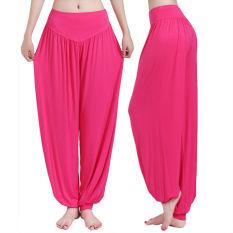 Jual Harem Wanita Yoga Celana Bloomers Tari Perut Nyaman Longgar Lebar Celana Import