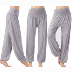 Harem Wanita Yoga Celana Bloomers Tari Perut Nyaman Longgar Lebar Celana