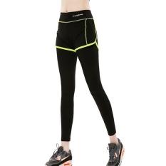 Toko Wanita Sport Celana Elastis Tinggi Kebugaran Gym Yoga Sports Dua Potong Breathable Running Workout Cepat Kering Celana Hijau Lengkap Tiongkok