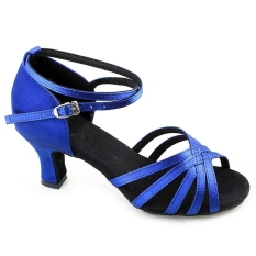 Review Wanita Brillante Latin Ballroom Sepatu Tari Latin Sepatu Warna Biru Di Tiongkok